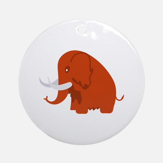 Wooly Mammoth Ornament (Round)