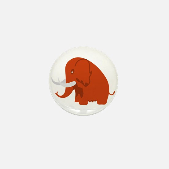 Wooly Mammoth Mini Button