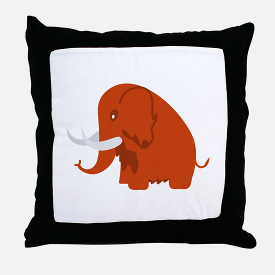 Wooly Mammoth Throw Pillow