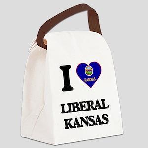 I love Liberal Kansas Canvas Lunch Bag