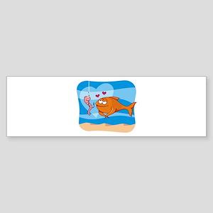 Fish and Bait in Love Bumper Sticker