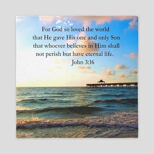 UPLIFTING JOHN 3:16 Queen Duvet