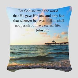 UPLIFTING JOHN 3:16 Woven Throw Pillow