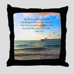 UPLIFTING JOHN 3:16 Throw Pillow