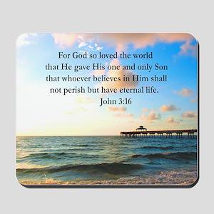 UPLIFTING JOHN 3:16 Mousepad