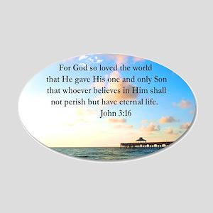 UPLIFTING JOHN 3:16 20x12 Oval Wall Decal