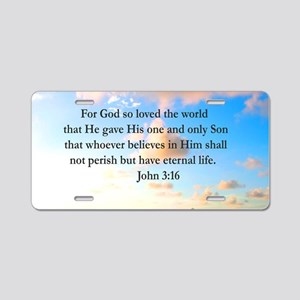 UPLIFTING JOHN 3:16 Aluminum License Plate