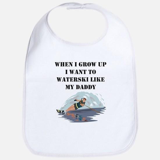 Waterski Like My Daddy Bib