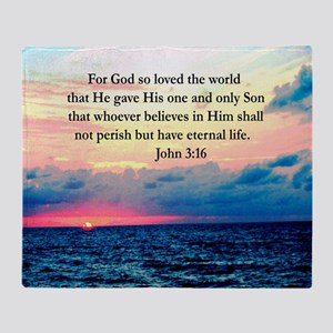 UPLIFTING JOHN 3:16 Throw Blanket