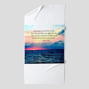 UPLIFTING JOHN 3:16 Beach Towel