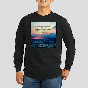UPLIFTING JOHN 3:16 Long Sleeve Dark T-Shirt