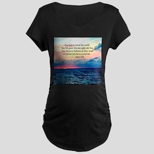 UPLIFTING JOHN 3:16 Maternity Dark T-Shirt