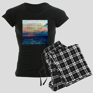 UPLIFTING JOHN 3:16 Women's Dark Pajamas