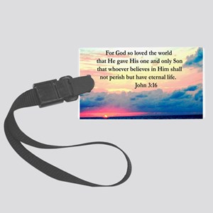 UPLIFTING JOHN 3:16 Large Luggage Tag
