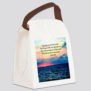 UPLIFTING JOHN 3:16 Canvas Lunch Bag
