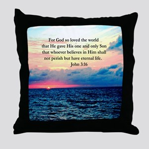 UPLIFTING JOHN 3:16 Throw Pillow