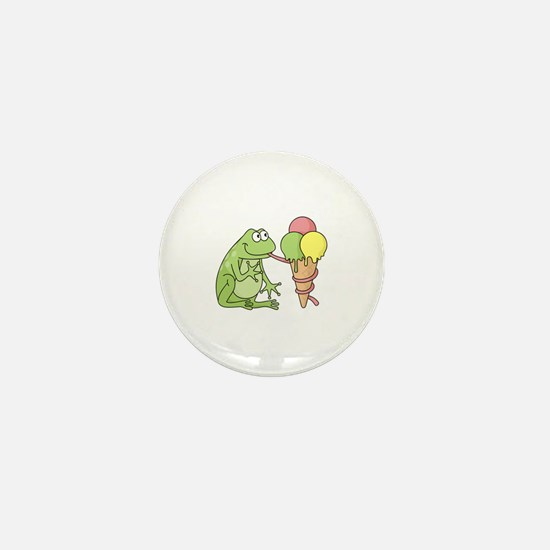Frog with Icecream Mini Button