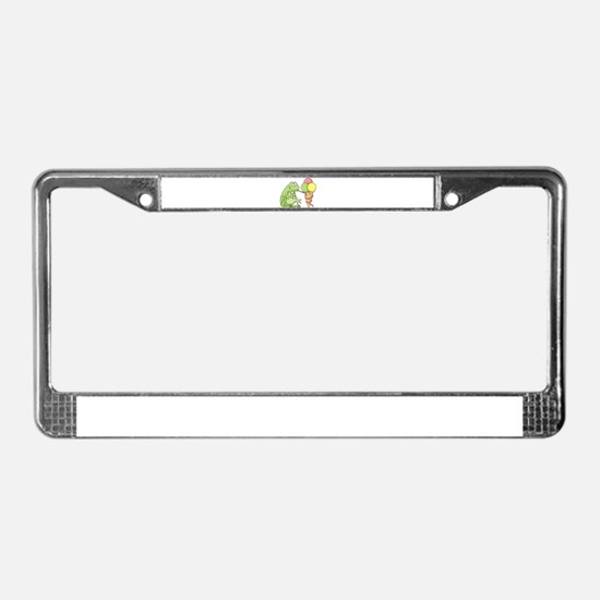 Frog with Icecream License Plate Frame