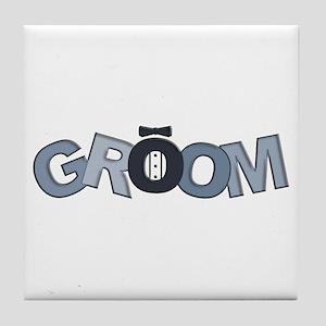 BP Letters Groom Tile Coaster