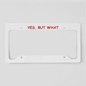 pinball joke License Plate Holder