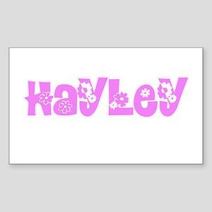 Hayley Flower Design Sticker