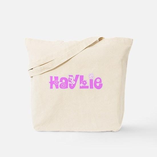 Haylie Flower Design Tote Bag