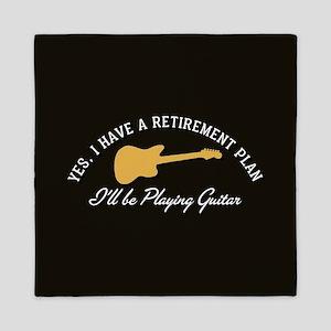 Playing Guitar Is My Retirement Plan Queen Duvet