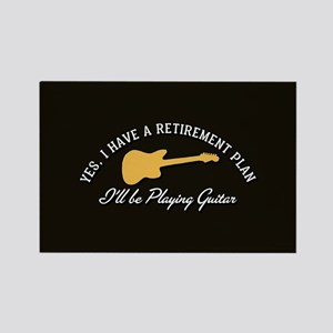 Playing Guitar Is My Retirement P Rectangle Magnet