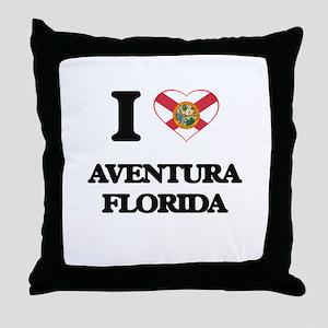 I love Aventura Florida Throw Pillow