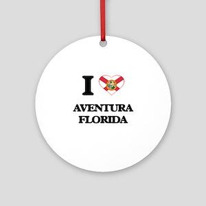 I love Aventura Florida Ornament (Round)