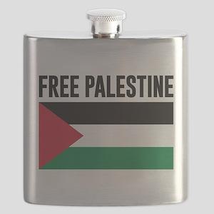 Free Palestine Flask
