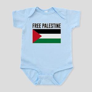 Free Palestine Baby Light Bodysuit