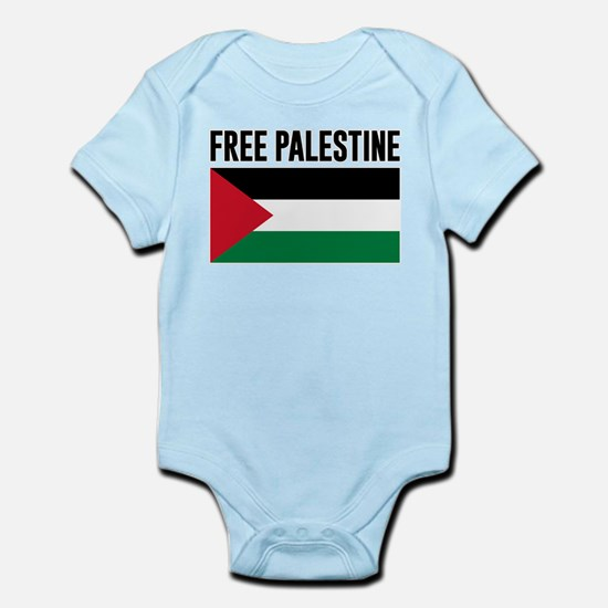 Free Palestine Baby Light Bodysuit