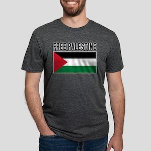 Free Palestine Mens Tri-blend T-Shirt