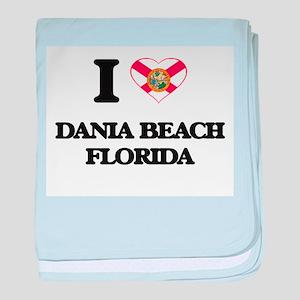 I love Dania Beach Florida baby blanket