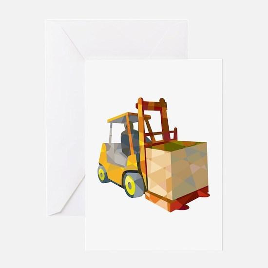 Forklift Truck Materials Handling Box Low Polygon