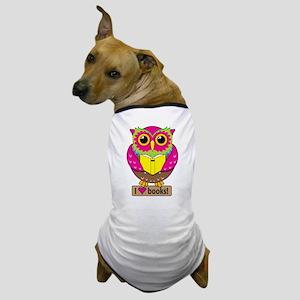Owl Love Books Dog T-Shirt