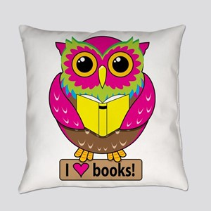 Owl Love Books Everyday Pillow