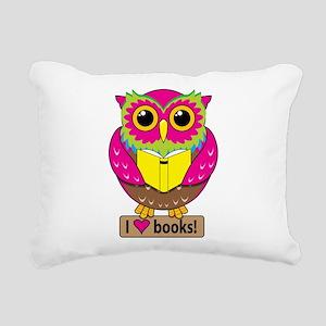 Owl Love Books Rectangular Canvas Pillow