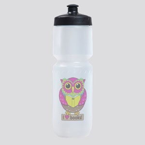 Owl Love Books Sports Bottle