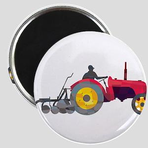 Farmer Driving Vintage Farm Tractor Low Polygon Ma