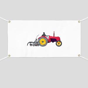 Farmer Driving Vintage Farm Tractor Low Polygon Ba