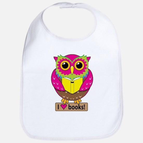 Owl Love Books Bib
