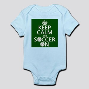 Keep Calm and Soccer On Body Suit