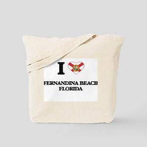 I love Fernandina Beach Florida Tote Bag