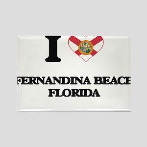 I love Fernandina Beach Florida Magnets
