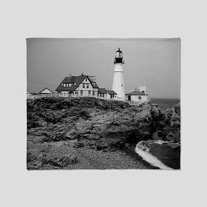 Portland Head Lighthouse Throw Blanket