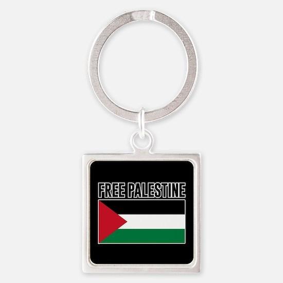 Free Palestine Square Keychain