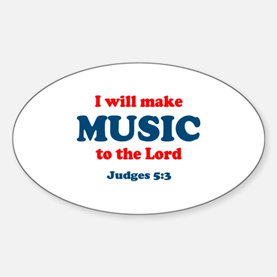 Judges 5:3 Oval Decal