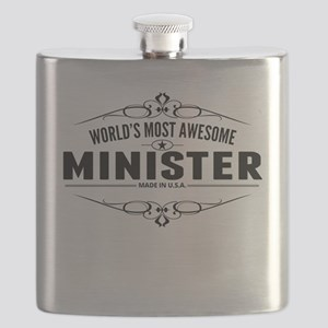 Worlds Most Awesome Minister Flask
